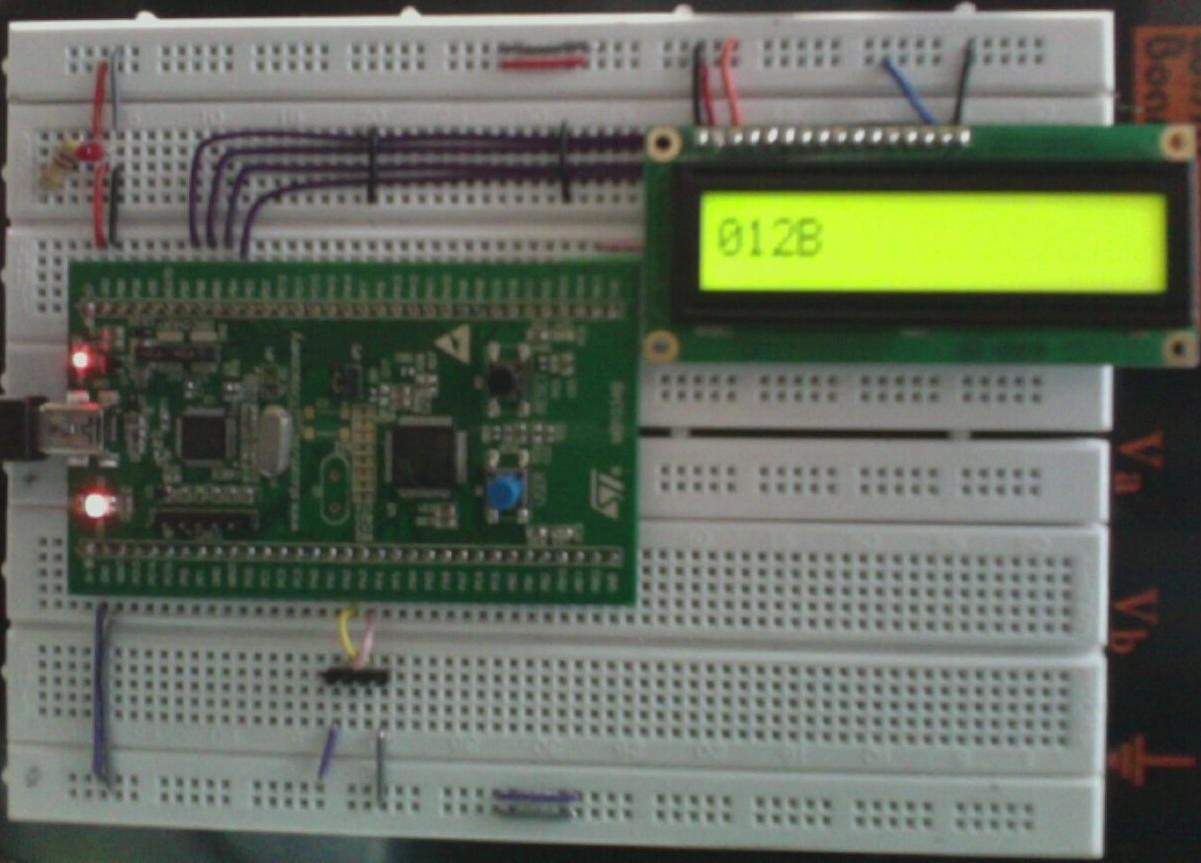 Using an LCD display with the stm32f0discovery board